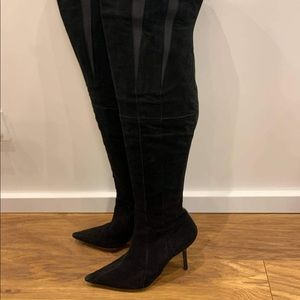 NARSICO RODRIGUEZ! BLACK SUEDE THIGH HIGH BOOTS